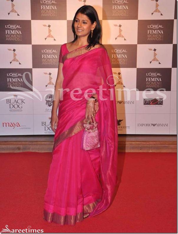 Nandita_Das_Pink_Saree