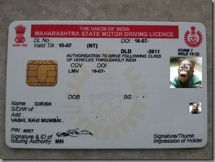 The Shiny New Driving License