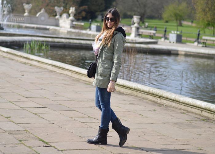 Rifle, Parka Rifle, Zara, Zara bag, zara scarf, strategia biker boots, valentino sunglasses, london, londra, oxford street, fashion blogger,italian fashion blogger, elisa taviti, my fantabulous world
