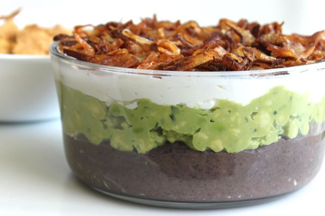 4-Layer {Truffled} Black Bean Dip