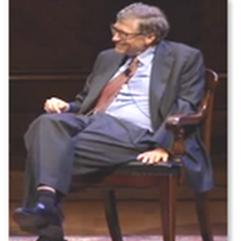 Bill Gates (A Bit Unwired) The Harvard Campaign Video Interview..