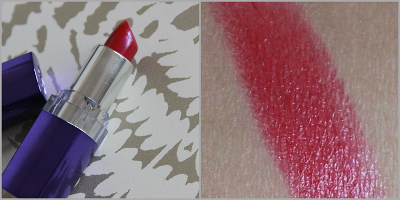 rimmel moisture renew cherry-licious lipstick review and swatch