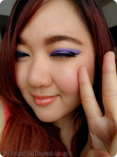Priscilla Clara beauty blogger IBB MUC Maybelline Color Tattoo Painted Purple eye makeup FOTD 2