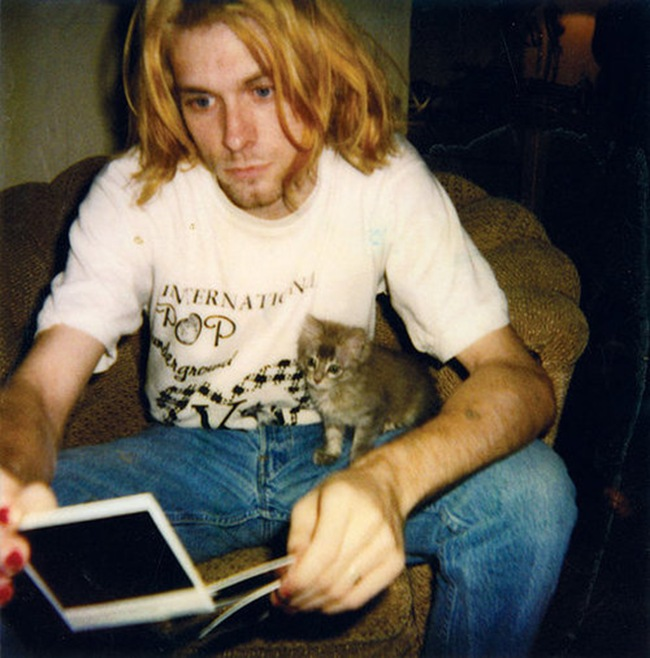 kurt and a kitty cat