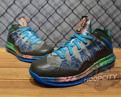 nike lebron 10 low gr black turquoise blue 1 09 Surprise, Surprise... Nike Air Max LeBron X Low Tarp Green