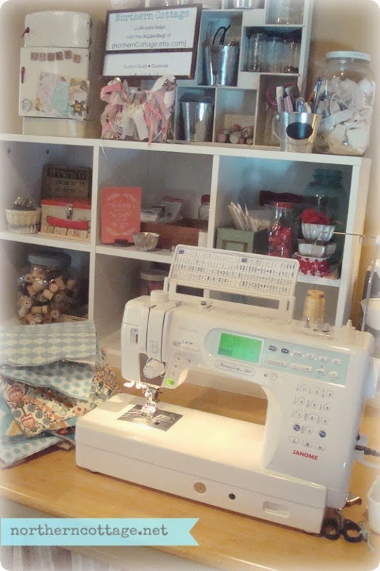 Sewing Area in the {NorthernCottage} Studio