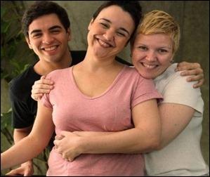 Pedro Borges, Cristiana Serra e Juliana Luvizaro