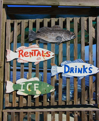 Cedar Key Fish Sign