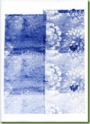 14a.Print taken from roller after 12 (ultramarine with Payne's grey)