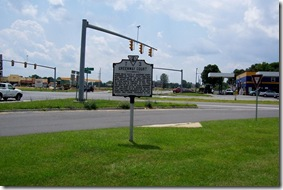 Greenway Court marker at intersection of Route 340 and Routes 17/50