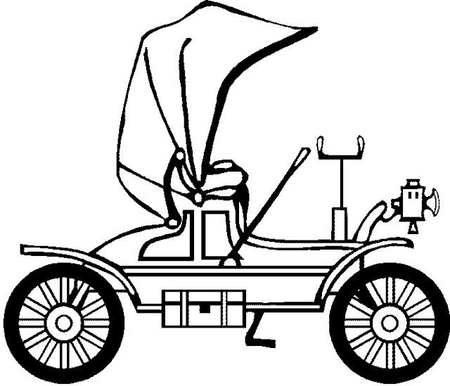Dibujos para colorear de autos antiguos - Imagui