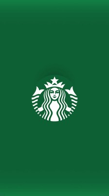 Starbucks logo iphone6 wallpaper