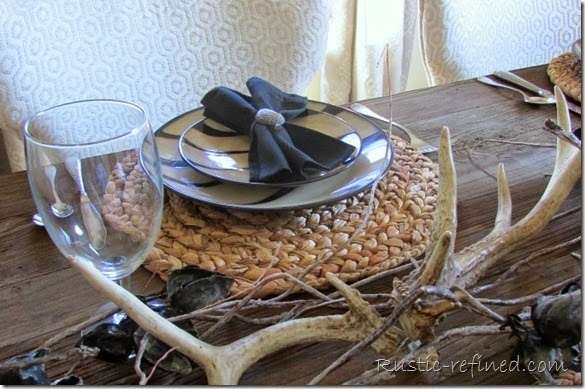 Tablescapes for any home with rustic colors in a woodland theme