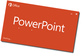 power point start screen