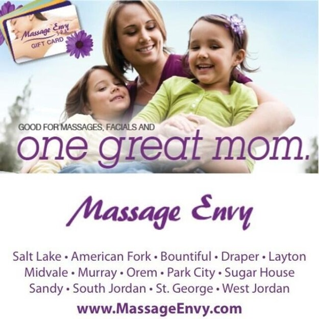 Enter to win a free 1-hour massage at Massage Envy - Wasatch front locations only. Great for a Mother's Day gift.
