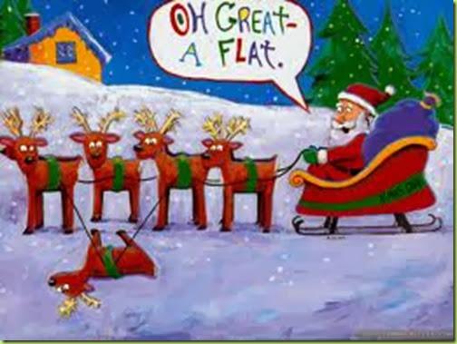 santa's flat reindeer