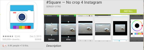 app ที่ไม่ตัด crop instagram