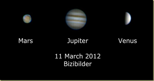 11 Mar 2012 Three Planets