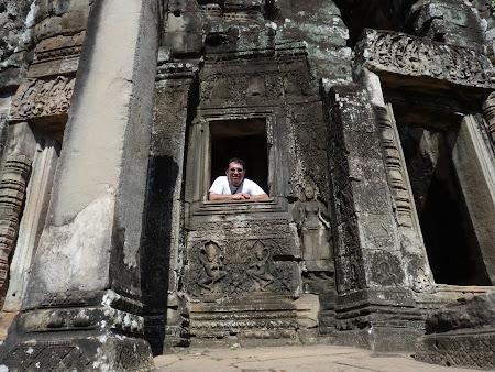 Obiective turistice Angkor: fereastra Bayon