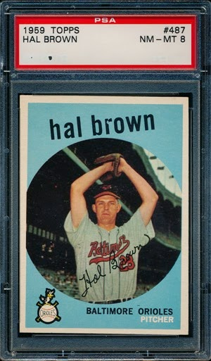 1959 Topps 487 Hal Brown