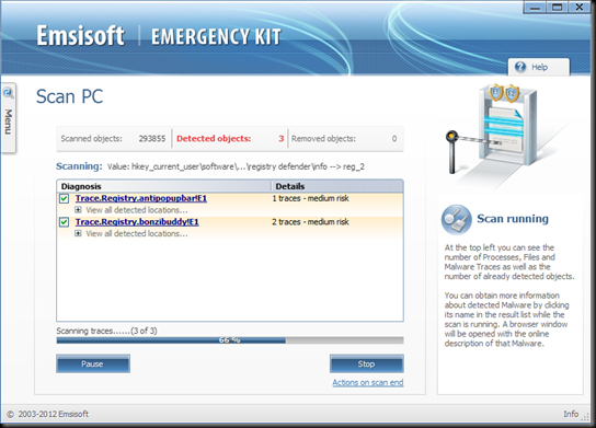 Download Emsisoft Emergency Kit 2.0 Free - The first portable dual-engine emergency cleaner worldwide | Free removal of Viruses, Malware, Bots, Spyware, Keyloggers and Trojans