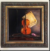Violin framed