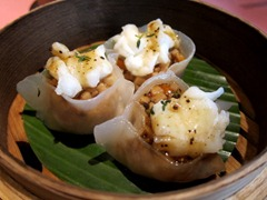 Lobster dumpling, black bean sauce