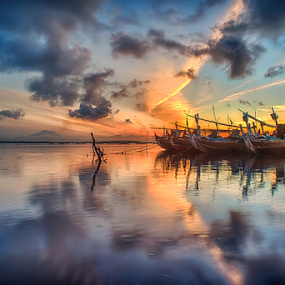 .:: got the blues ::. by Setyawan B. Prasodjo - Landscapes Cloud Formations ( dawn, blue sky, sunrise, red twilight, dramatic cloud )