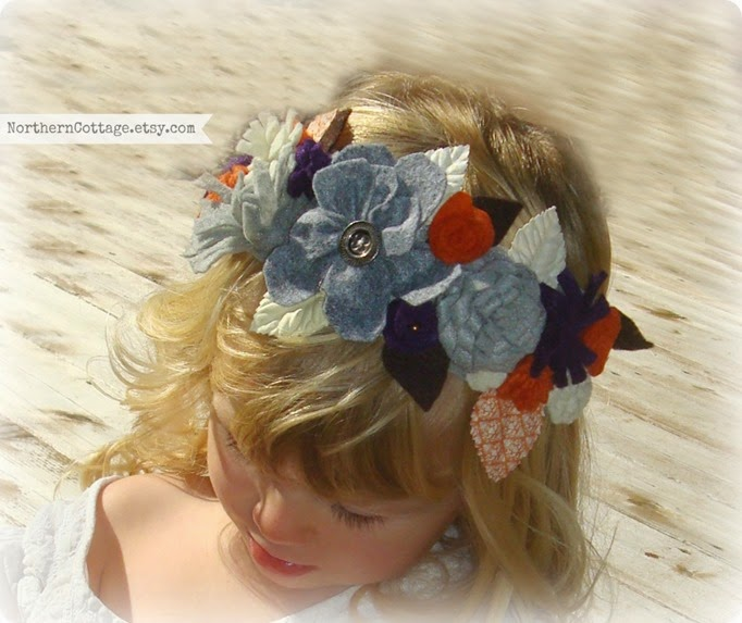 Blooming Crown Headband {NorthernCottage}