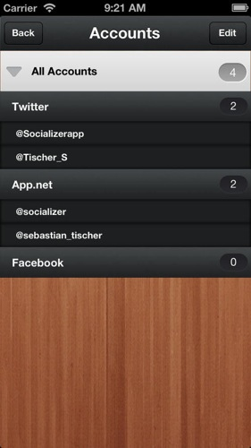 Socializer multiaccount posting twitter app net facebook