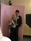 The amazing Sylvia Weinstock pose for a picture with Anthony in our photo booth provided by the company Polite in Public.