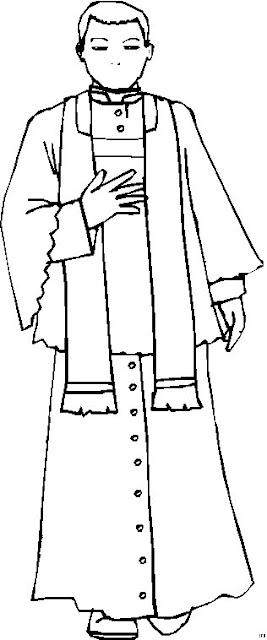 dibujos de sacerdotes para colorear