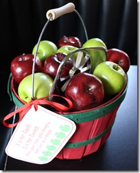 apple basket snack gift obseussed F