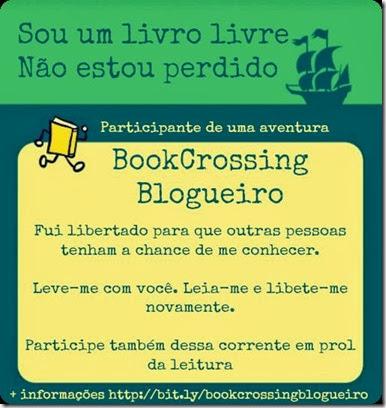 Ilustração da mensagem que seguiu com o livro libertado para a 7ª Edição do BookCrossing Blogueiro
