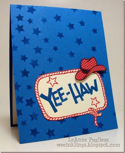 LeAnne Pugliese WeeInklings Paper Players 214 Yee Haw Stampin Up