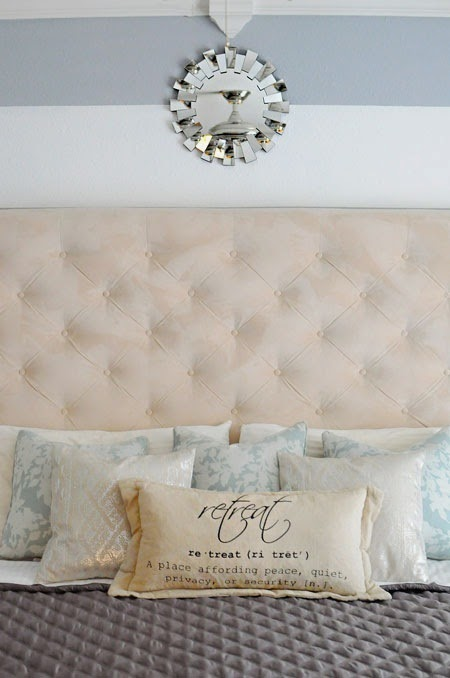 Budget master bedroom makeover via MonicaWantsIt.com #diy #home