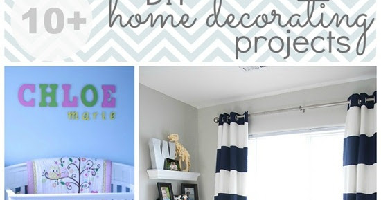 10+ DIY Home Decorating Projects #featured
