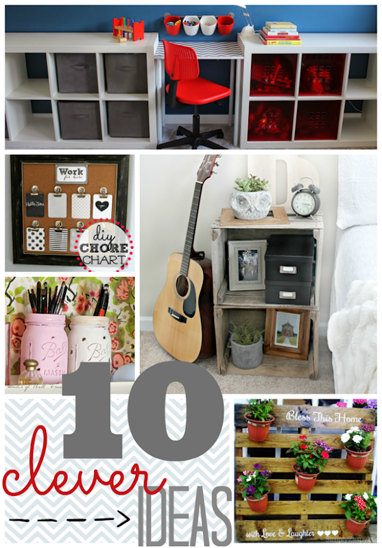 10 Clever Ideas at GingerSnapCrafts.com #linkparty #features