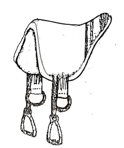 Dibujos de silla de caballo para colorear montura for Sillas para dibujar
