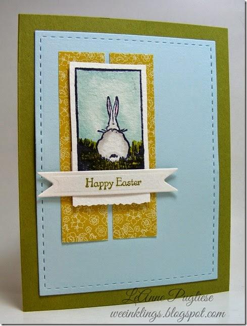 LeAnne Pugliese WeeInklings Bunny Easter Card Stampin