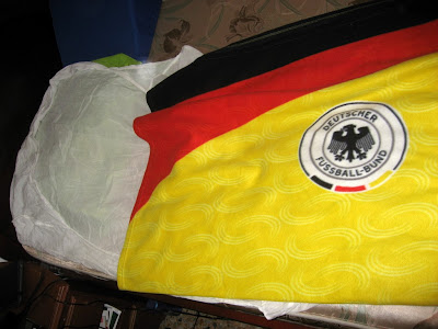 my German friend that I was staying with almost had me sleep underneath this blanket.. no way!