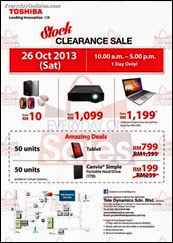 Toshiba Warehouse Sale Laptop Computer Tablet Projector 2013 Malaysia Deals Offer Shopping EverydayOnSales