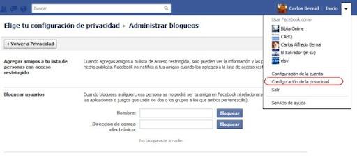 Cómo bloquear usuarios en Facebook