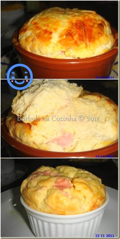 suflê de couve flor e queijo