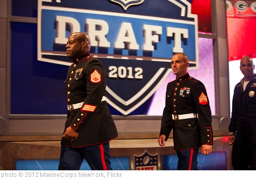 'Marines at NFL Draft 2012' photo (c) 2012, MarineCorps NewYork - license: http://creativecommons.org/licenses/by/2.0/
