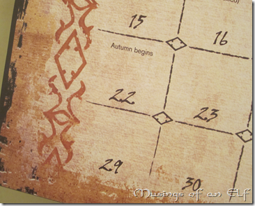 Calendar announcing Autumn
