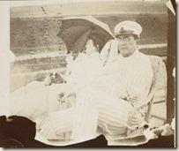 Misia et Alfred Edwards sur leur yacht