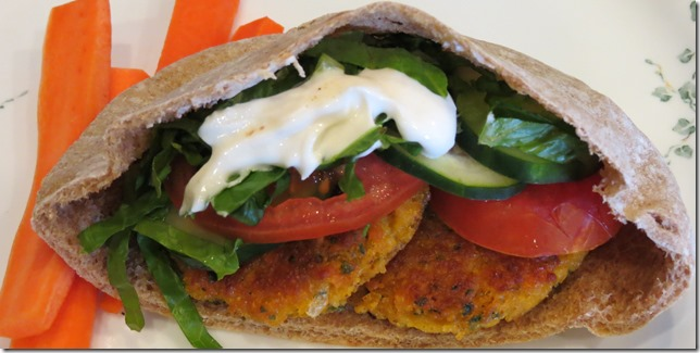 Sweet Potato Falafel Pitas