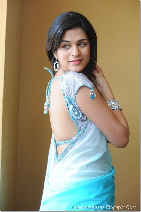 Shraddha Das hot backless saree 6