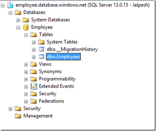 employee-table-created-sql-azure